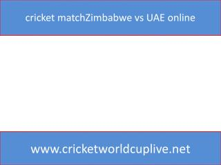cricket matchZimbabwe vs UAE online