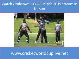 Watch Zimbabwe vs UAE 19 feb 2015 stream in Nelson