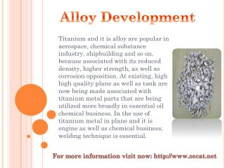 Alloy Development