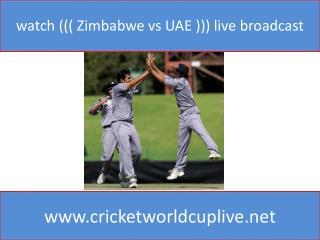watch ((( Zimbabwe vs UAE ))) live broadcast