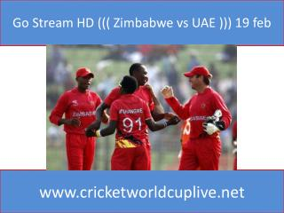 Go Stream HD ((( Zimbabwe vs UAE ))) 19 feb