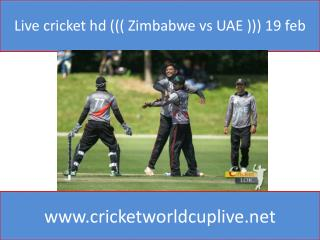 Live cricket hd ((( Zimbabwe vs UAE ))) 19 feb