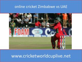 online cricket Zimbabwe vs UAE