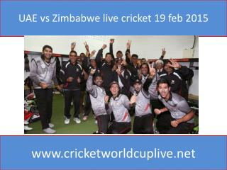 UAE vs Zimbabwe live cricket 19 feb 2015