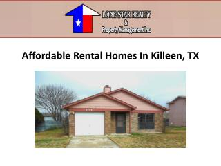 Affordable Rental Homes In Killeen, TX