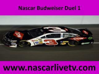 Online Nascar Budweiser Duel 1 Broadcast