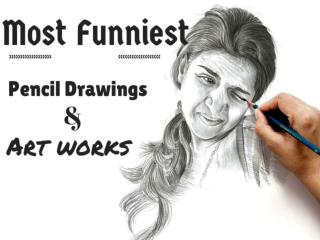 Most Funniest Pencil Drawings and Art works