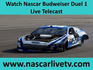 Budweiser Duel 1 Race Live From Daytona 19 feb 2015