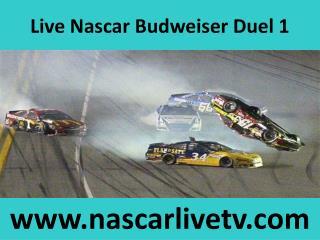 Budweiser Duel 1 Live Nascar