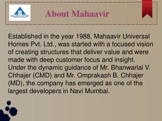 A promising real estate developer in Navi Mumbai