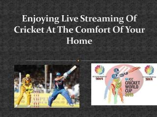 Enjoying Live Streaming Of Cricket At The Comfort Of Your Ho