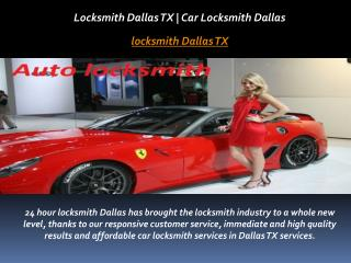 Locksmith Dallas TX | Car Locksmith Dallas