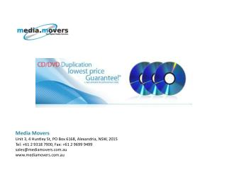 CD DVD Duplication Service