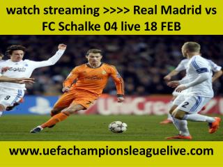 watch streaming >>>> Real Madrid vs FC Schalke 04 live 18 FE