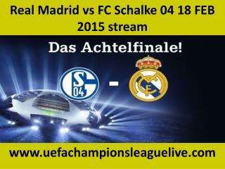 Football matchReal Madrid vs FC Schalke 04 online