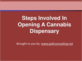 Steps Involved In Opening A Cannabis Dispensary