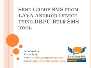 Send Group SMS using LAVA Android device
