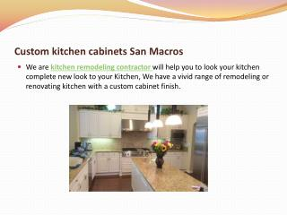 custom kitchen cabinets by kitchen remodeling contractor