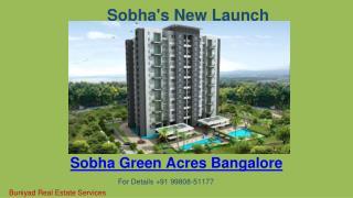 Luxurious apartment in Sobha Green Acres Bangalore