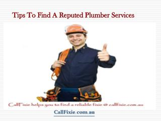 Find Certified Plumber In Australia