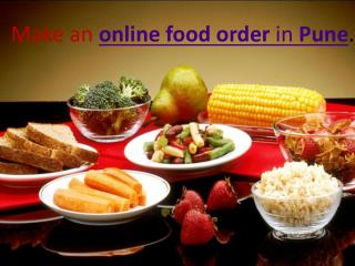 Make an online food order in Pune