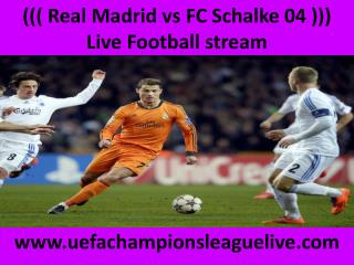 Football Schalke vs Real Madrid