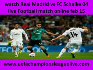 stream Football Real Madrid vs Schalke