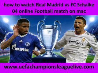 live Football Real Madrid vs Schalke online