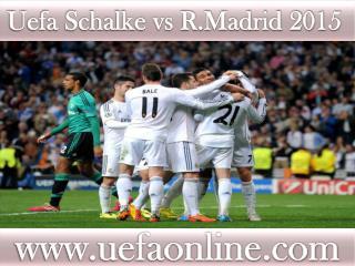 stream Schalke vs R.Madrid