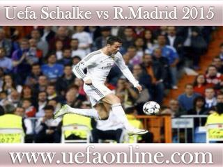 Football matchSchalke vs R.Madrid online