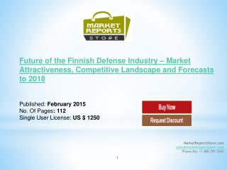 Finnish Defense Industry Trends & Future outlook
