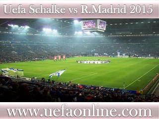 Schalke vs R.Madrid, Live Streaming UEFA CL Football 2015
