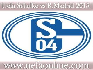 Football sports ((( R.Madrid vs Schalke ))) match live 18 FE