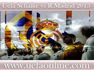 online Football R.Madrid vs Schalke