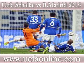 Watch Real Madrid vs Schalke live Football streaming