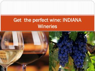 Get  the perfect wine INDIANA Wineries