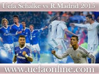 watch Real Madrid vs Schalke 18 FEB 2015 online Football