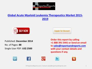 Global Acute Myeloid Leukemia Therapeutics Market 2015-2019