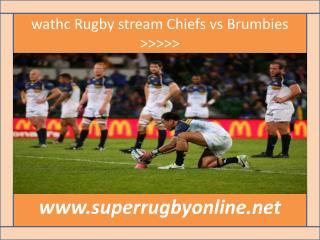 Go Stream HD ((( Chiefs vs Brumbies ))) 20 Feb
