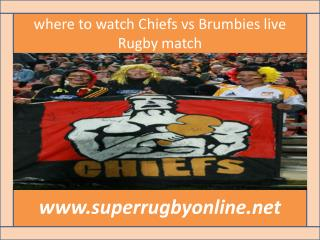 FULL HD MATCH ((( Chiefs vs Brumbies )))