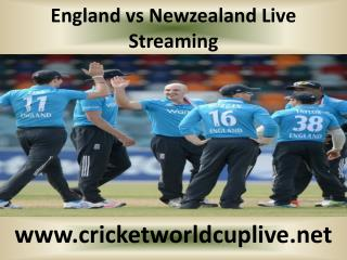 England vs Newzealand Live Streaming
