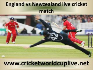 England vs Newzealand live cricket match