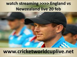 watch streaming >>>> England vs Newzealand live 20 feb