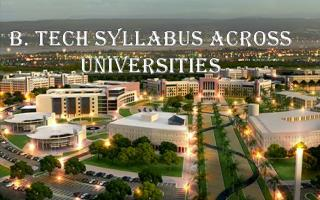 B. Tech syllabus across universities