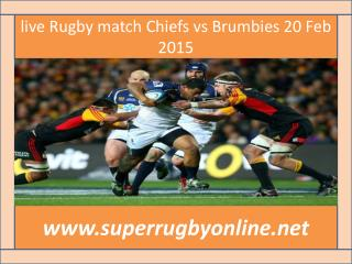 WC 2015 LIVE MATCH ((( Brumbies vs Chiefs )))