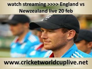 Newzealand vs England live cricket