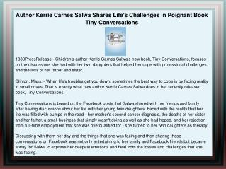 Author Kerrie Carnes Salwa Shares Life's Challenges