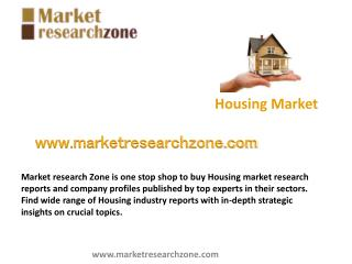 Housing market research reports