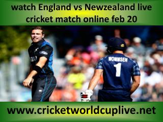 live cricket match Newzealand vs England on 20 feb 2015 stre