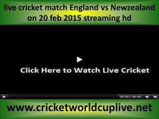 watch ((( Newzealand vs England ))) online cricket match